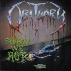 Sticker Obituary - Slowly we rot
