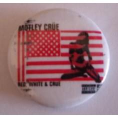 Badge Motley Crüe - Red, White & Crüe