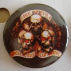 Badge Skull - See no Evil