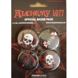 Kit de 4 Badges Alchemy 1977