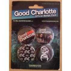 Kit de 4 Badges Good Charlotte