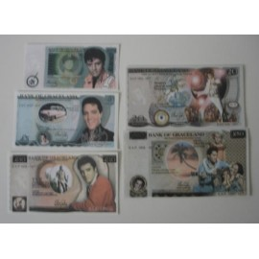 Lots de 5 billets Elvis Presley