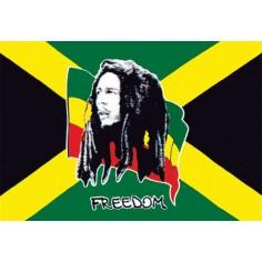 Drapeau Bob Marley - Freedom