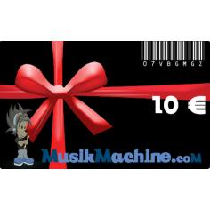 Carte cadeau d'une valeur de 10 €€
