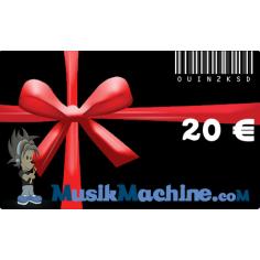 Carte cadeau d'une valeur de 20 €€