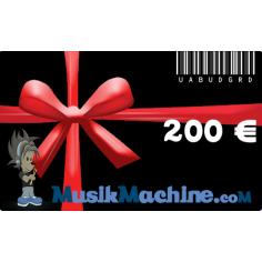 Carte cadeau d'une valeur de 200 €€
