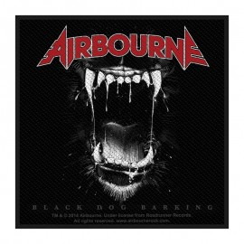 Ecusson Airbourne - Black dog barking
