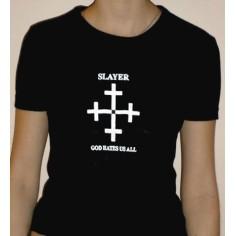 Top fille moulant Slayer - God hates us all