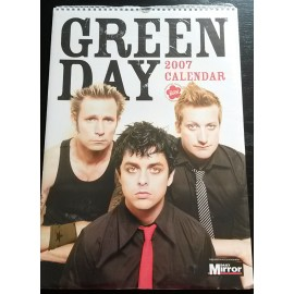 Calendrier vintage Green Day 2007