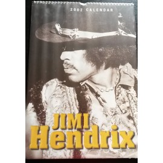 Calendrier vintage Jimi Hendrix 2002