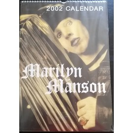 Calendrier vintage Marilyn Manson 2002