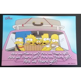 Postcard Simpsons - Are we there yet ?