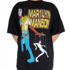 T shirt Marilyn Manson - MAR1LYN MAN5ON