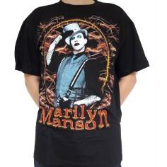 T shirt Marilyn Manson en bretelles