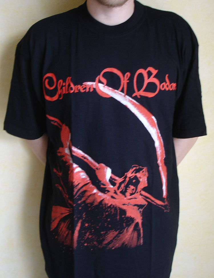 children of bodom hate crew deathroll. printed. T-shirt