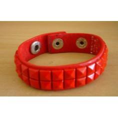 Bracelet PCV 2 rows - red