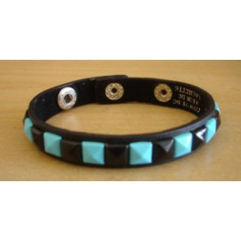 Bracelet PCV 1 row - blue/black