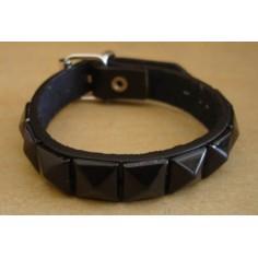 Bracelet PVC 1 rang - noir