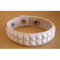 Bracelet PCV 2 rows - white