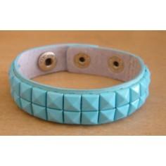 Bracelet PVC 2 rangs - bleu