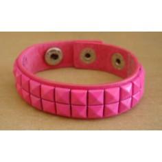 Bracelet PCV 2 rows - dark pink