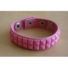 Bracelet PVC 2 rangs - rose pâle