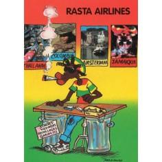 Postcard Reggae - Jimmy rasta airlines