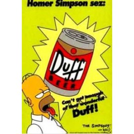 Postcard Simpsons - Duff