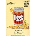Postcard Simpsons - Duff, you know you want it !