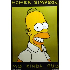 Postcard Simpsons - Homer my kinda guy