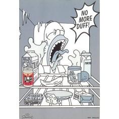 Postcard Simpsons - No more Duff !