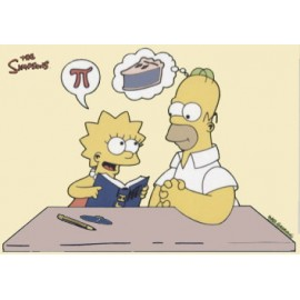 Postcard Simpsons - Pi