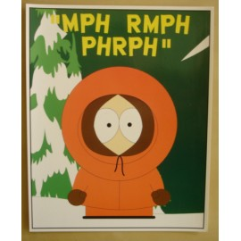 Postcard South Park - Kenny (giant)
