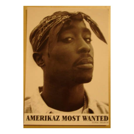 Postcard Tupac - Americaz most wanted