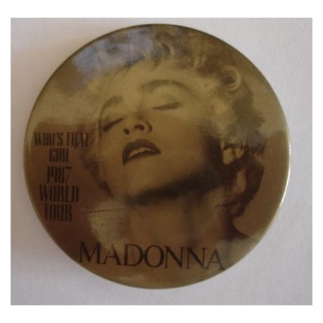 Badge Madonna - Who's that girl tour