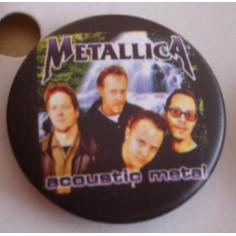 Badge Metallica - Acoustic metal