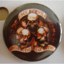 Badge Skull - See no Evil