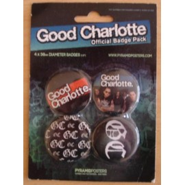 4 Badges kit Good Charlotte