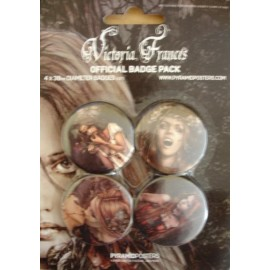 4 Badges kit Victoria Frances