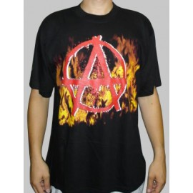 T shirt Anarchy in flames