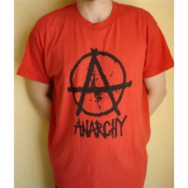 T-shirt Anarchy rouge