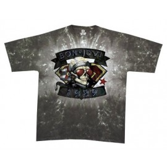 T-shirt Bon Jovi - 1989 [tye dye Liquid Blue]
