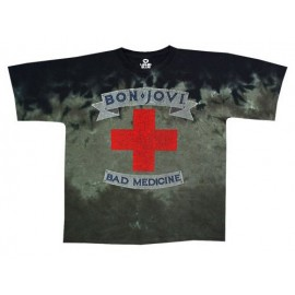 T-shirt Bon Jovi - Bad Medecine [tye dye Liquid Blue]