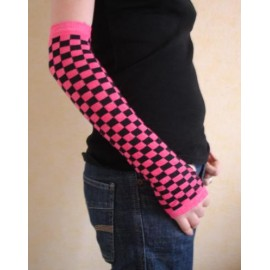 Pair of gloves pink/black