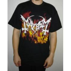 T-shirt Mayhem in flames