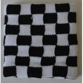 Wristband checkerboard white & black