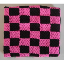 Wristband checkerboard pink & black