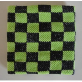 Wristband checkerboard green & black
