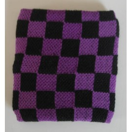 Wristband checkerboard purple & black