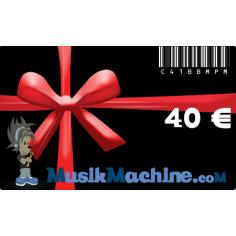 Carte cadeau d'une valeur de 40 €€